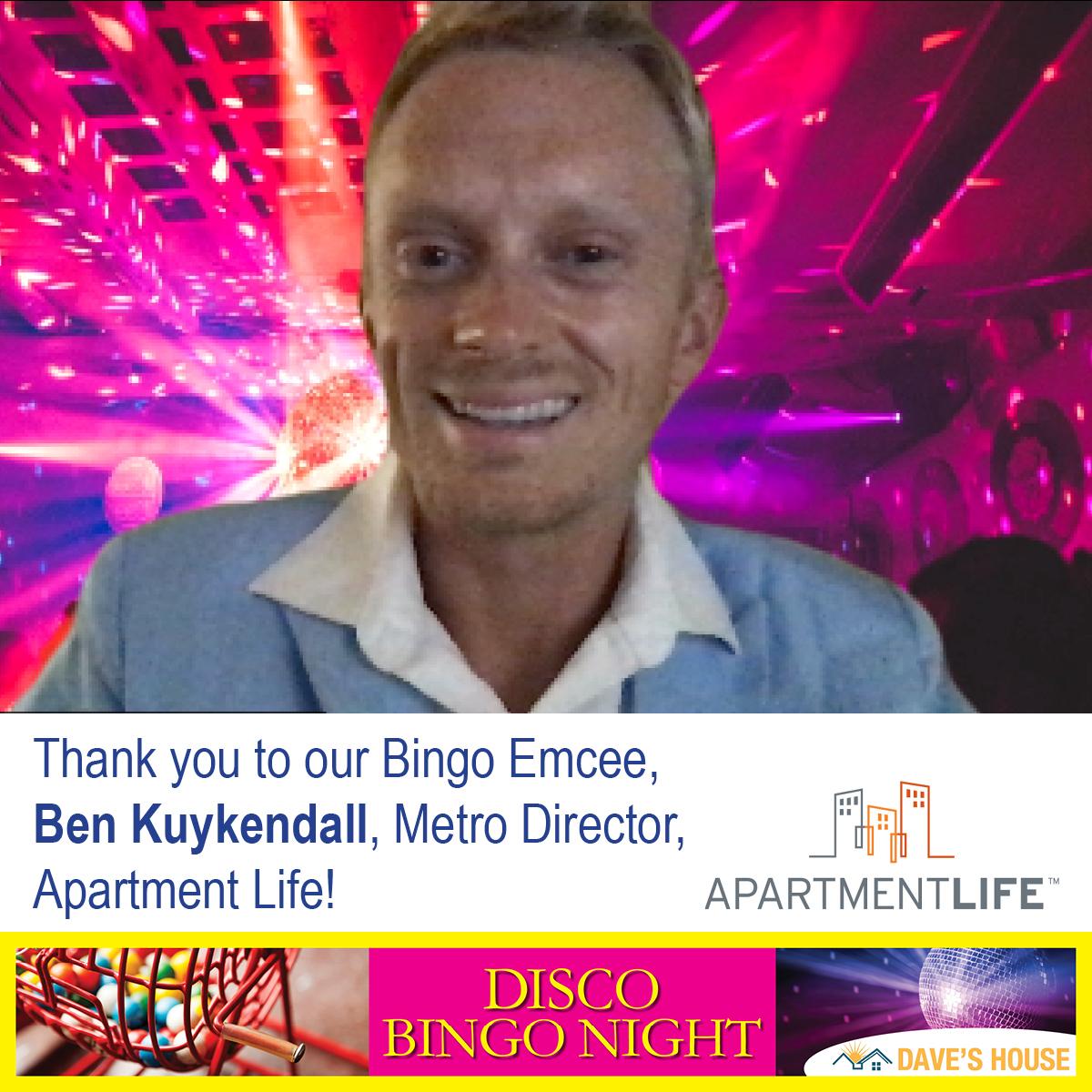 bingo emcee, Ben Kuykendell