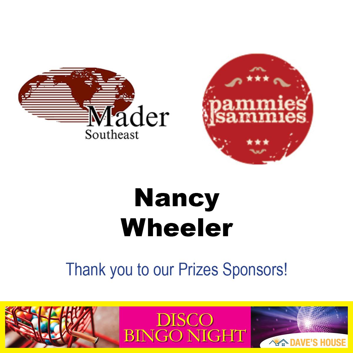 disco bingo night prize sponsors